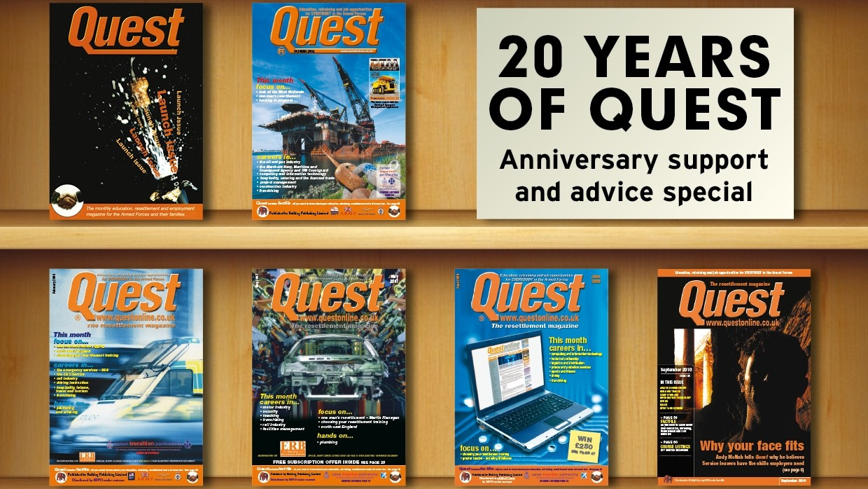 This issue marks the 20th anniversary of the launch of QUEST!