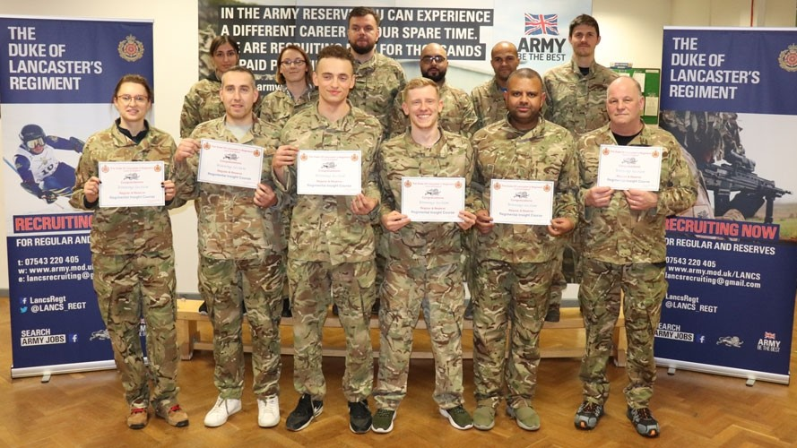 Amazon line managers put through their paces with the Duke of Lancaster's Regiment