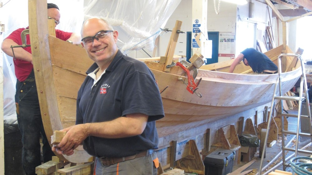 One man's transition to traditional boat building