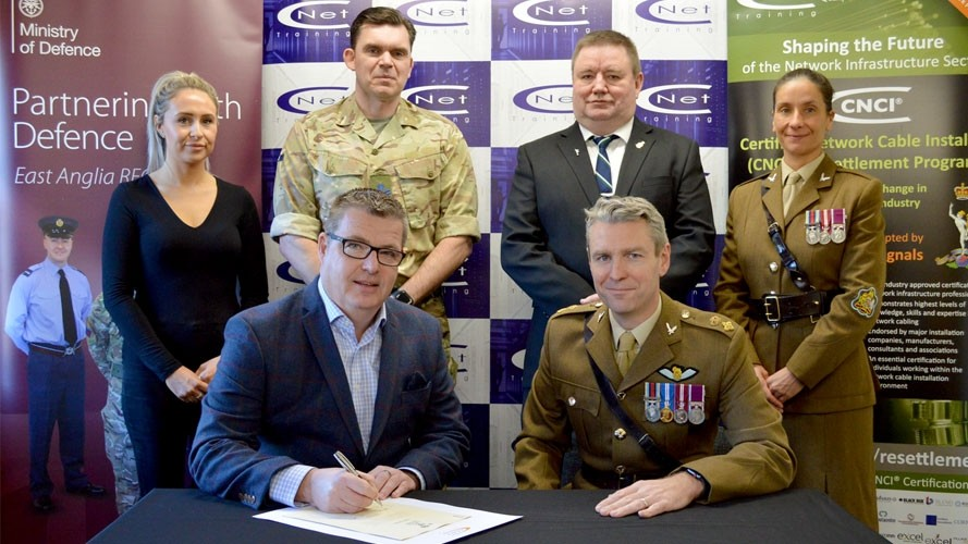 CNet Training signs Armed Forces Covenant