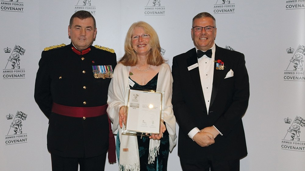 Companies recognised for supporting defence personnel