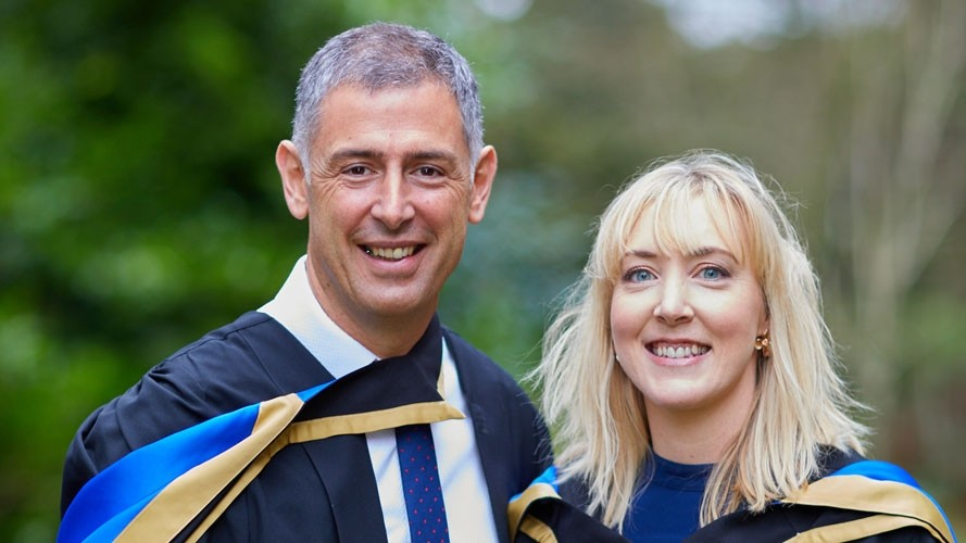 Double celebration for husband and wife online MBA graduates