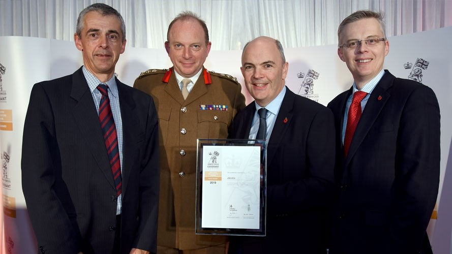 Jacobs' commitment to Reservists and Veterans earns Gold Award