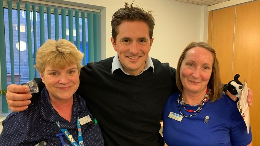 Johnny Mercer MP introduced to national Armed Forces healthcare campaign