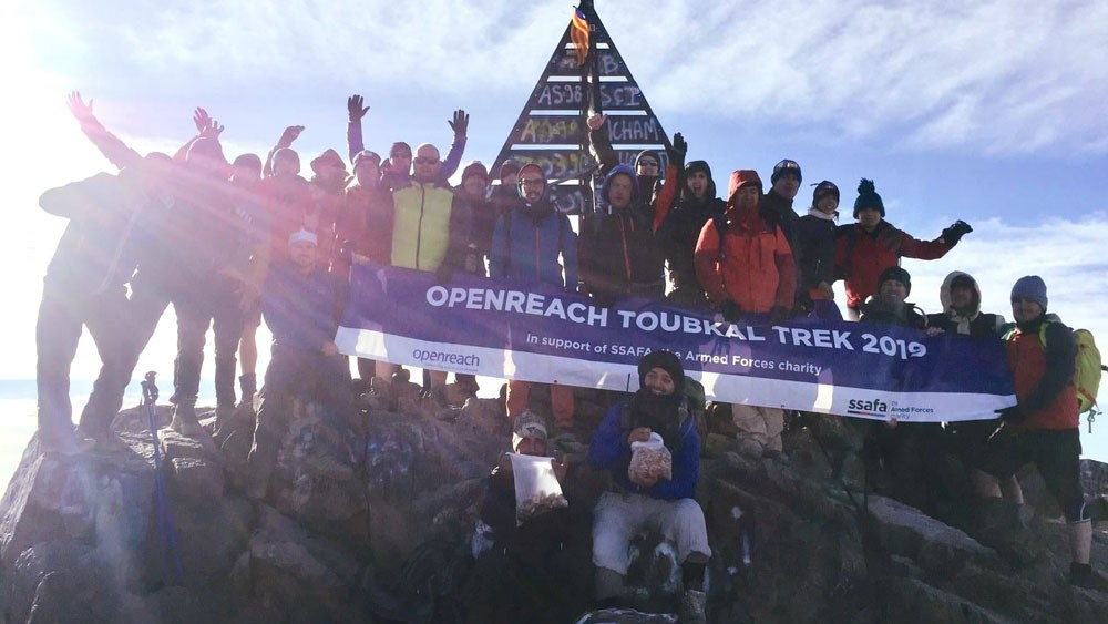 Openreach trekkers raise more than £45,000 for SSAFA