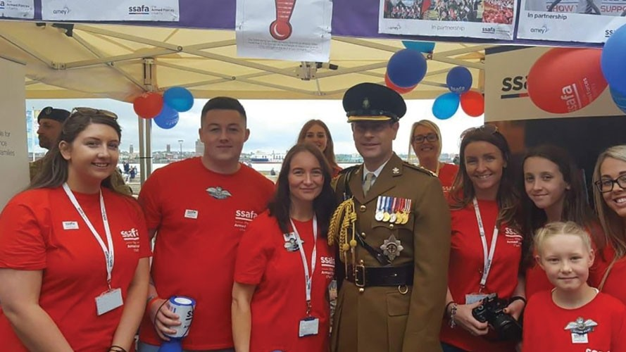Amey reaches £200,000 fundraising milestone for SSAFA, the Armed Forces charity