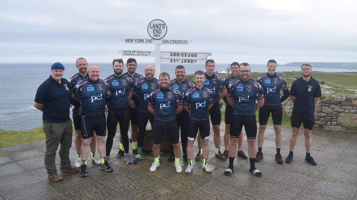 Submariners cycle length of country to raise awareness of appeal