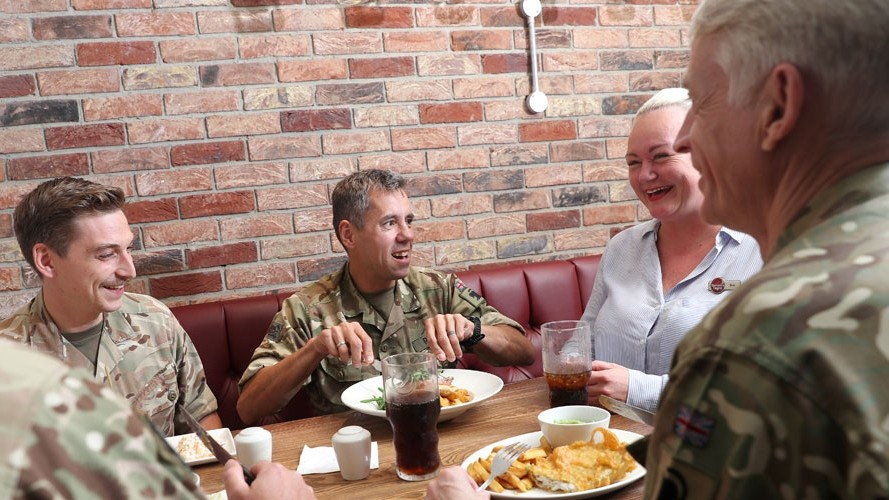 Helping heroes tuck in to a hearty discount