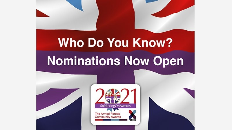 Soldiering On Awards 2021 – nominations now open!