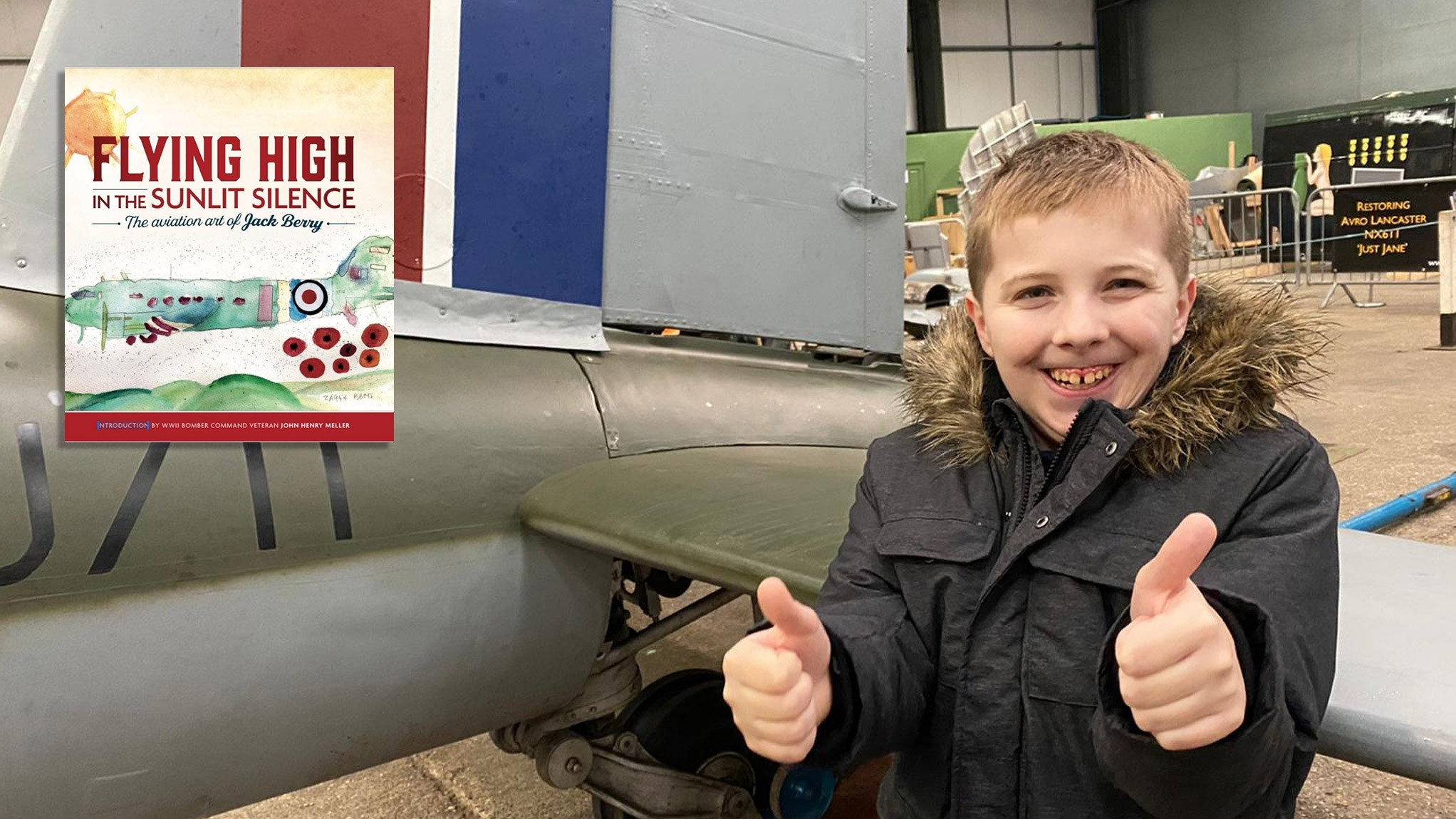 Thumbs up for fundraiser and aviation artist Jack's new book