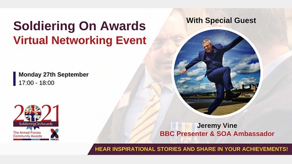 Join the Soldiering On Awards' September networking event