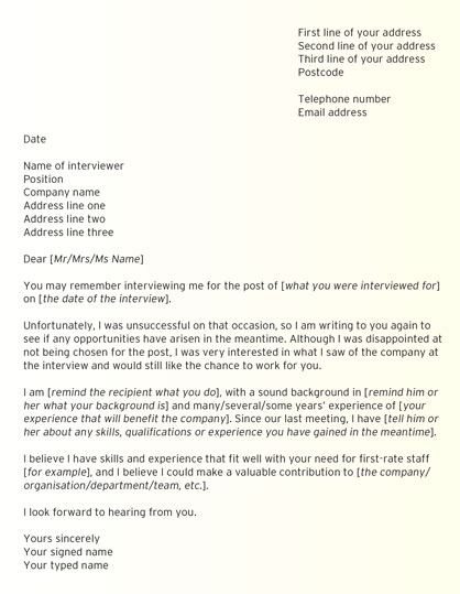 Example post-rejection letter 2